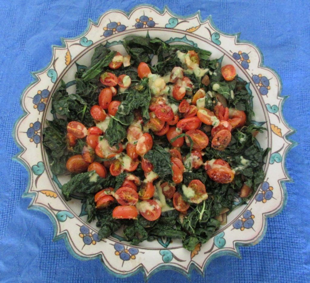 Kale, Tomato and Coconut Salad